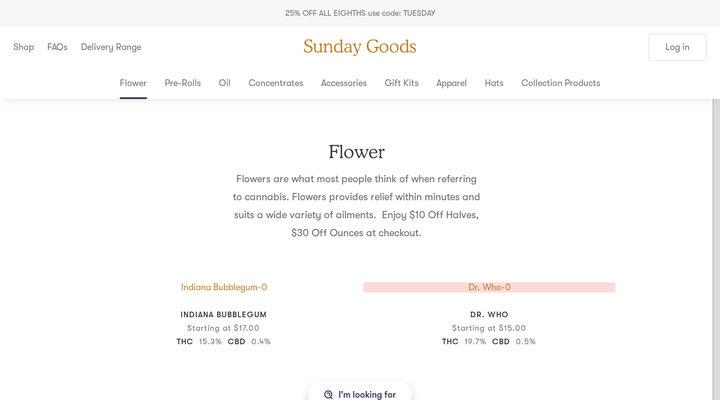 Buy Weed Online | Marijuana Delivery | Sunday Goods - Sunday Goods