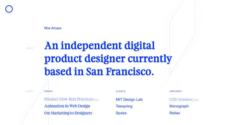 Product Designer in San Francisco - Moe Amaya