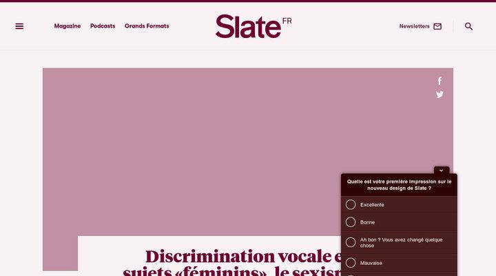 Slate.fr - Culture, politique, économie, tech, sciences, santé