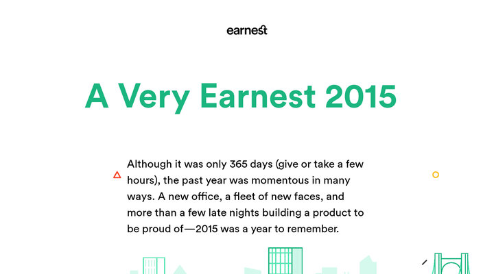 Earnest - 2015 in Review