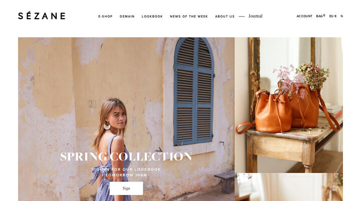 Sézane.com - The first online fashion brand, from Paris with love