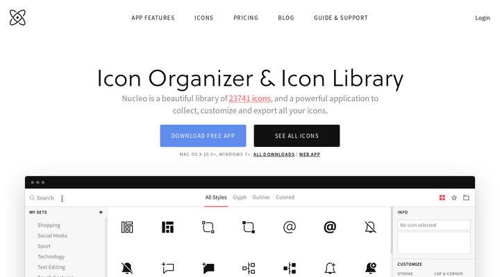 Icon Organizer & Icon Library