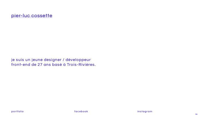 pier-luc cossette - développeur front-end