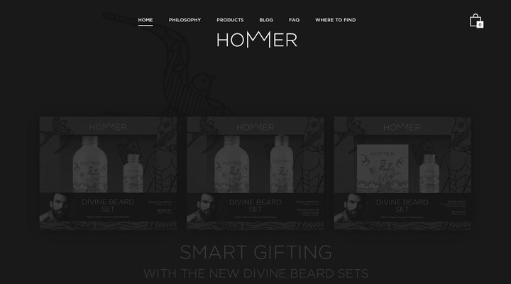 HOMMER MAN & GROOMING Men's grooming products