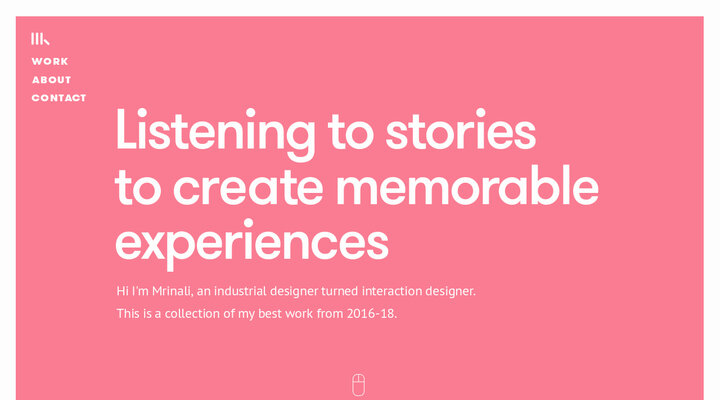Mrinali's Interaction Design Portfolio