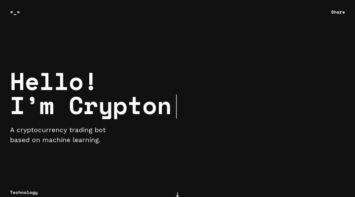 Crypton - cryptocurrency trading bot based on machine learning.