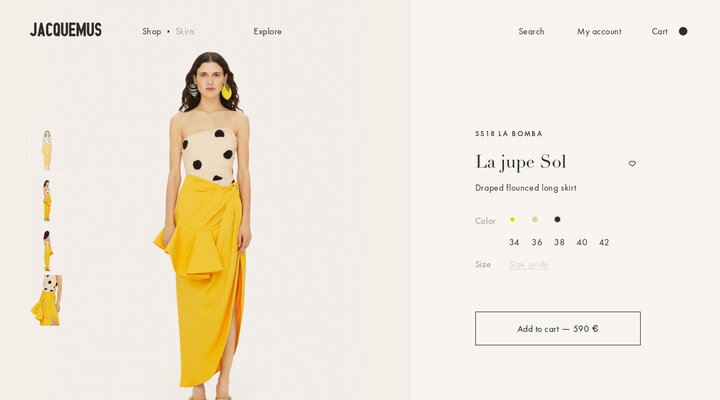 La jupe Sol - JACQUEMUS | Official website