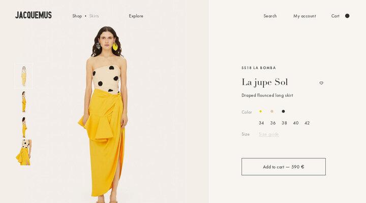 La jupe Sol - JACQUEMUS | Official website
