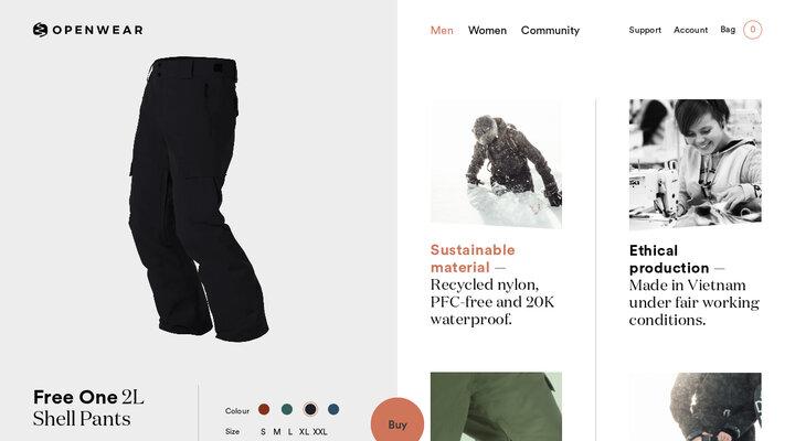 Free One - 2L Shell Pants - Men - Black - Open Wear