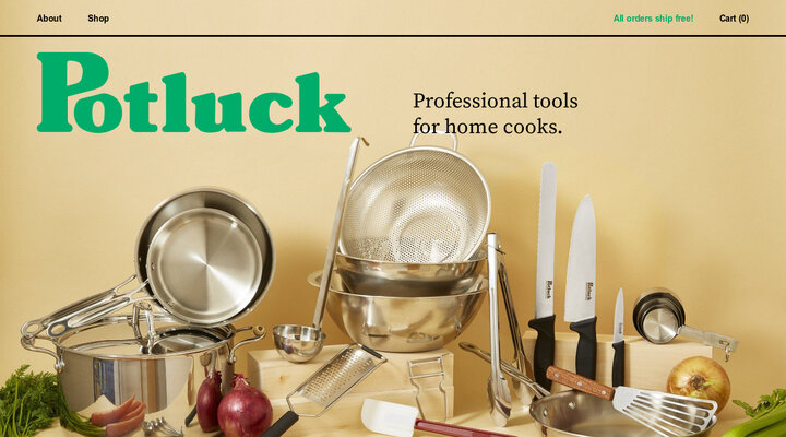 Potluck | Professional Tools for Home Cooks