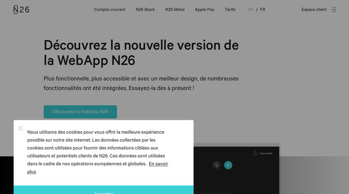 Découvrez la nouvelle version de la WebApp N26 - N26 La Banque Mobile — N26 France