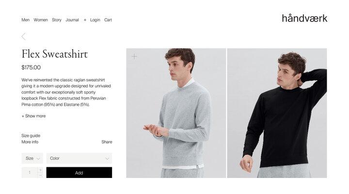Flex Sweatshirt | håndværk