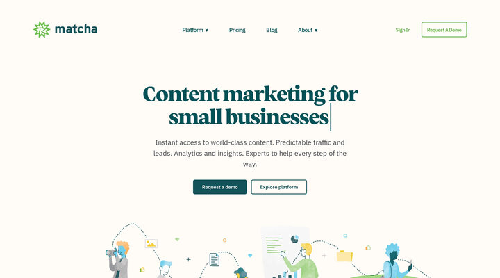 Matcha · Done-for-You Content Marketing Solution for E-Commerce and D2C Brands