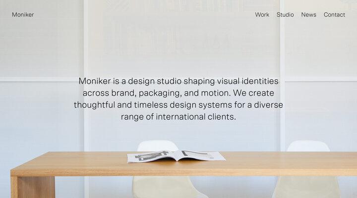Moniker — Design & Branding