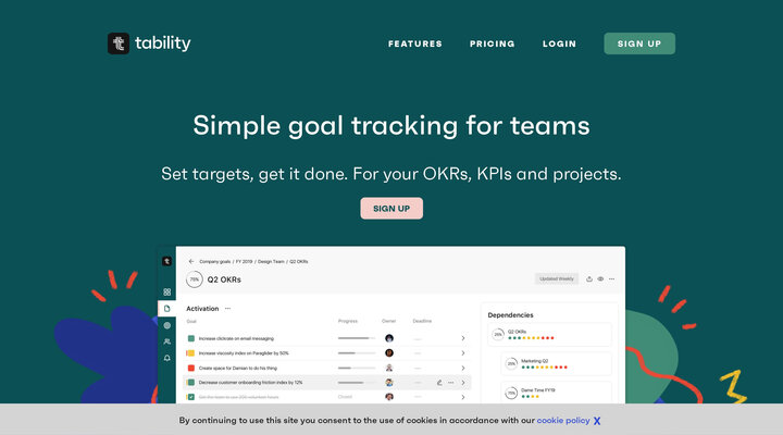 Tability | Simple and easy goal-tracking for your business