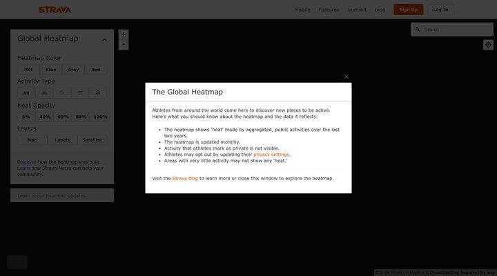 Strava Global Heatmap