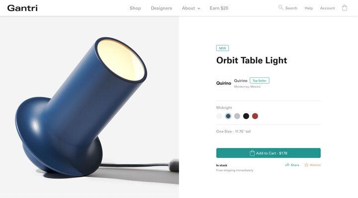 Orbit Table Light by Quirino | Gantri