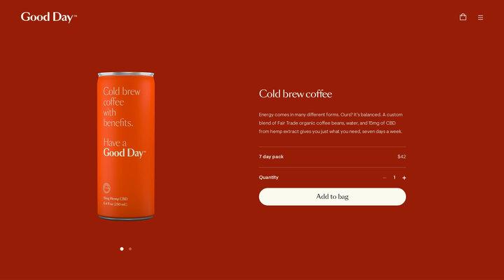 Good Day | CBD cold brew coffee – Good Day Beverage