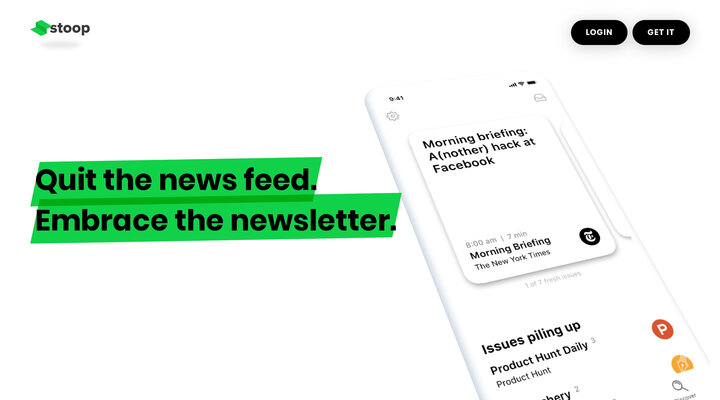 Stoop - A newsletter app