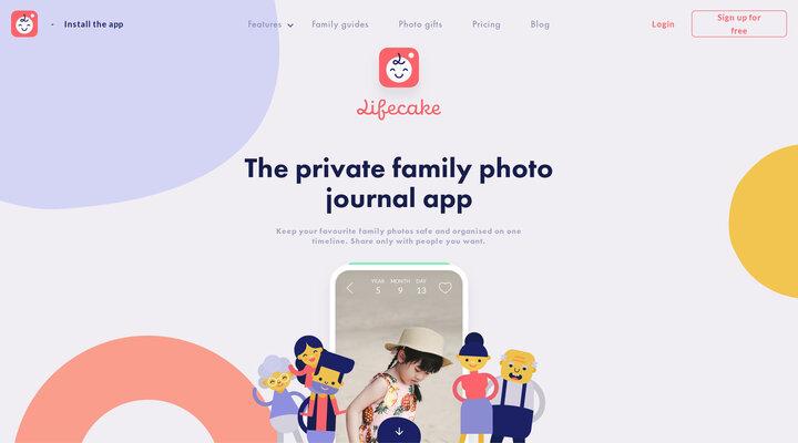 Kids' photo journal for family   Lifecake