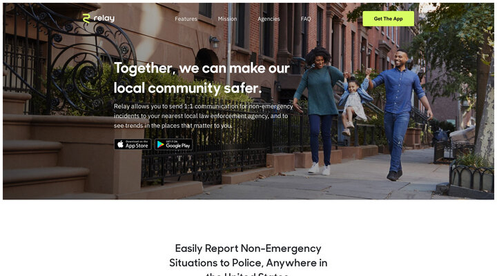 Relay - The Non-Emergency Neighborhood Safety Platform