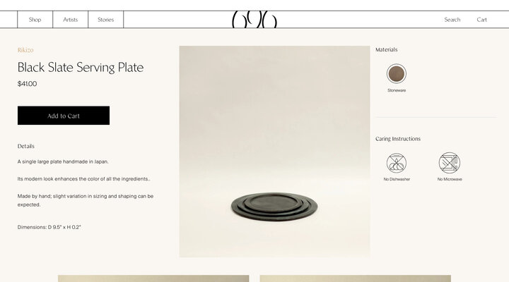 Black Slate Serving Plate – 696 NYC