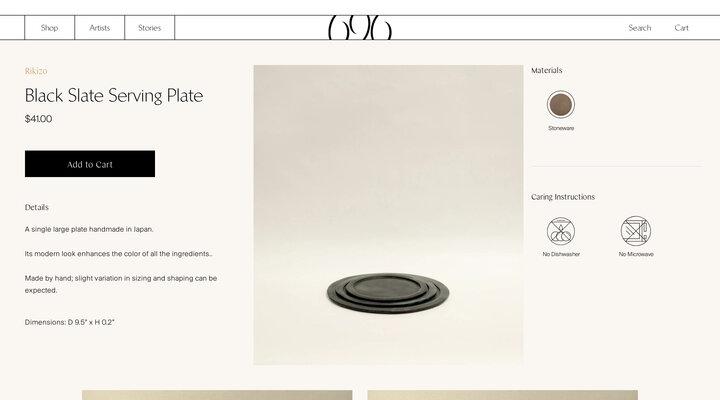 Black Slate Serving Plate – 696 NYC