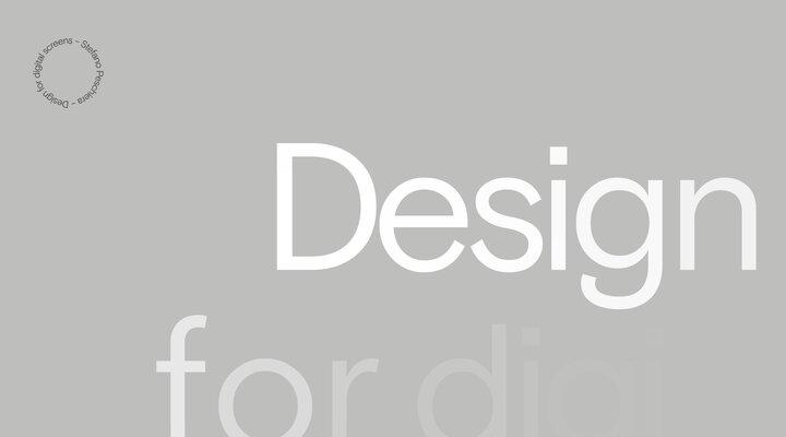 Stefano Peschiera - Design for digital screens ‒ Stefano Peschiera