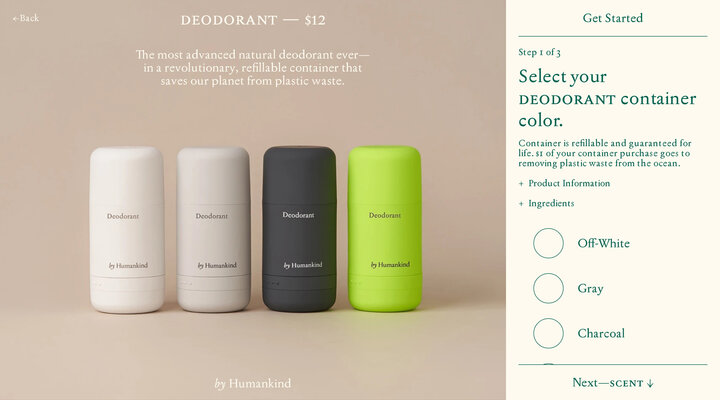 Refillable Deodorant — by Humankind
