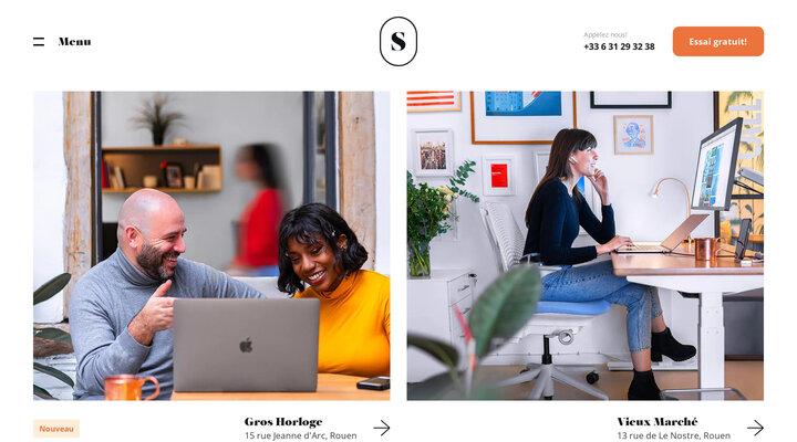 Coworking, espaces de bureaux et salles de réunions à Rouen