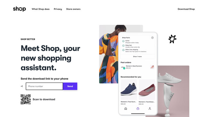Shop is a new online shopping assistant that makes every part of your experience better.