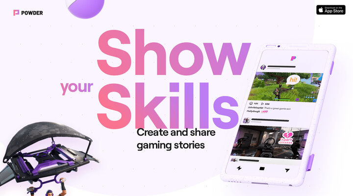 Powder, edit and share your gaming videos on mobile