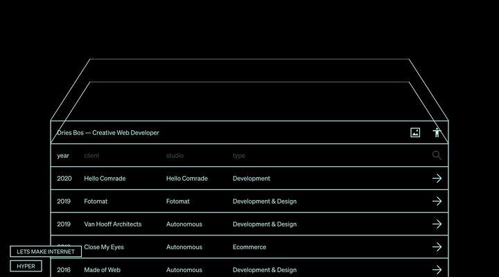 Dries Bos — Creative Web Developer