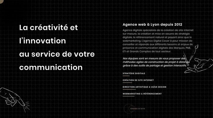 Agence web Lyon : Création de Site internet, SEO, SEA | Digital Cover