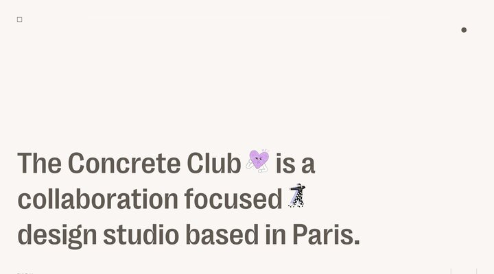 Concrete Club Studio — Paris