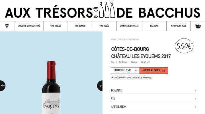 Côtes-de-Bourg Château Les Eyquems 2017 37.5 cl