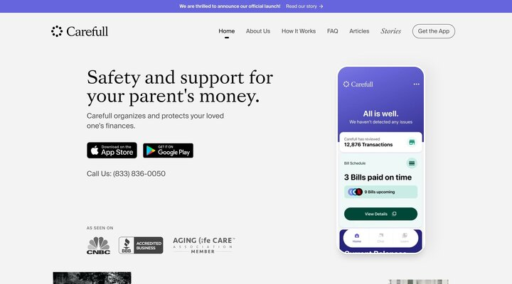 Carefull | Safety and support for your parent's money.