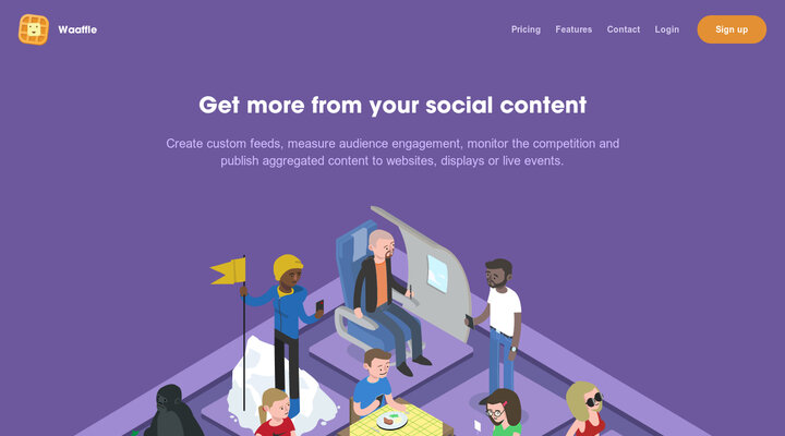 Waaffle: Aggregate, analyse and publish social content from Instagram & Twitter