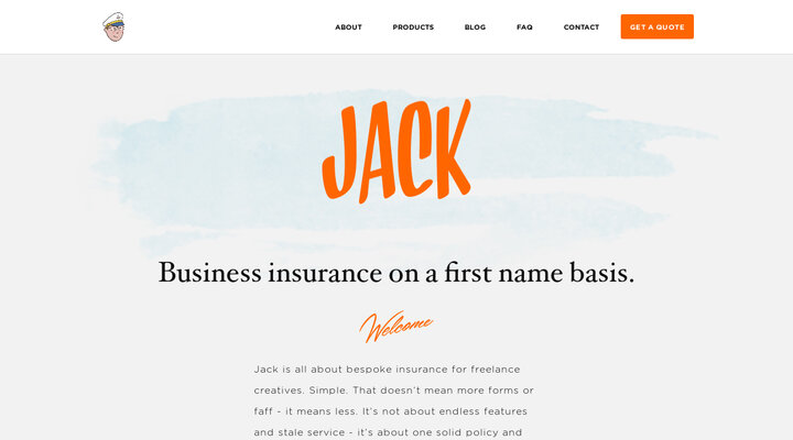 Business insurance on a first name basis | Jack