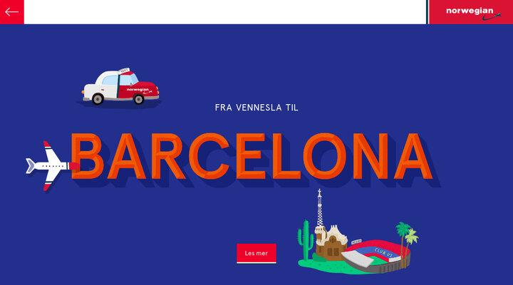 Espen og Anna reiste fra Vennesla til Barcelona — Norwegian Taxi