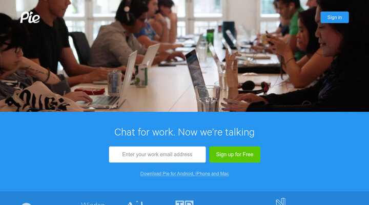 Pie · Chat for work