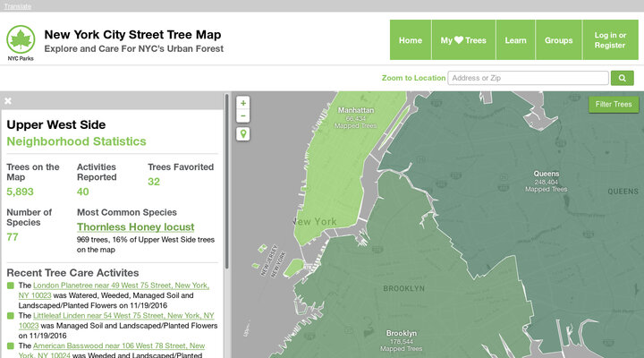 NYC Street Tree Map : NYC Parks