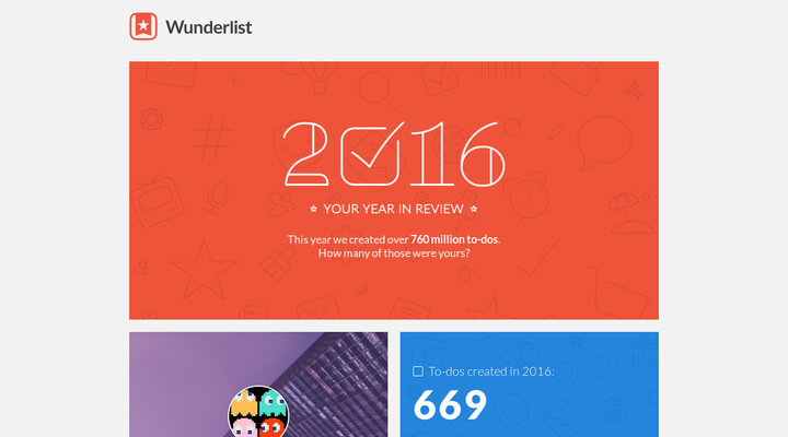 Year in Review - Wunderlist