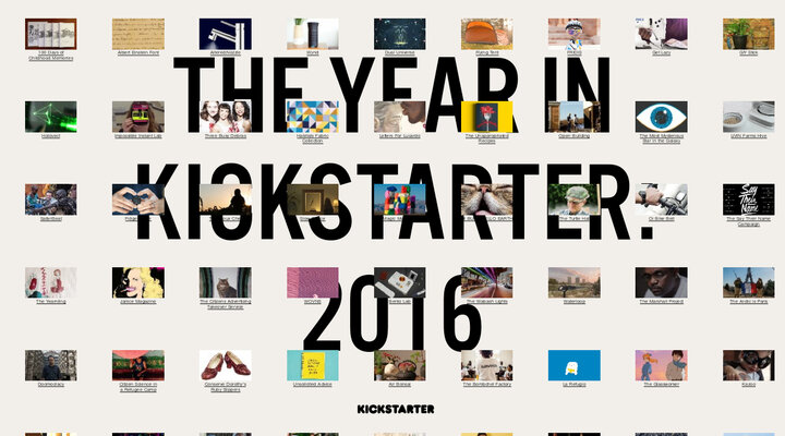 The Year in Kickstarter 2016