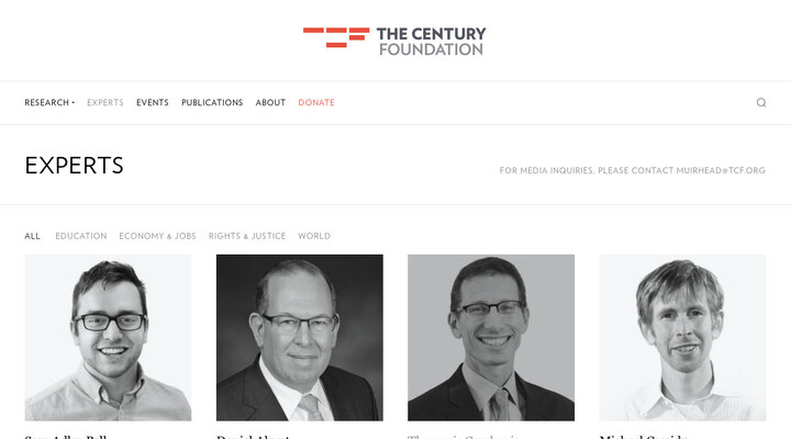 Experts - The Century Foundation