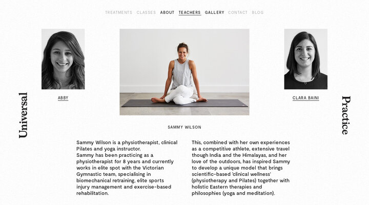 About - Universal Practice : Yoga and Pilates : Richmond Melbourne