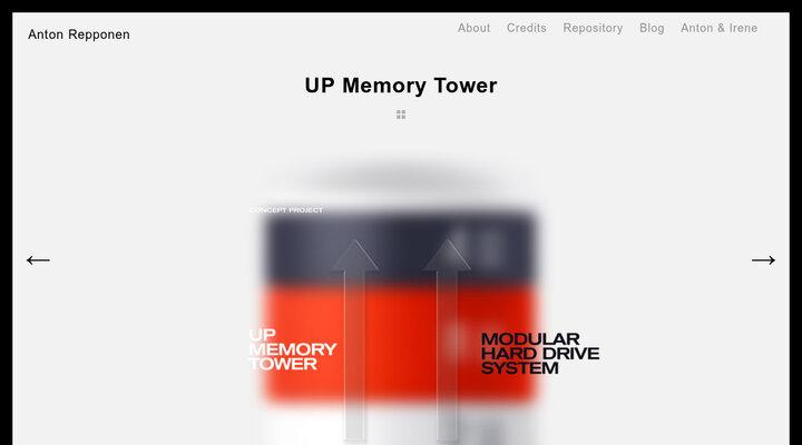 UP Memory Tower - Anton Repponen - Museum of Design Artifacts