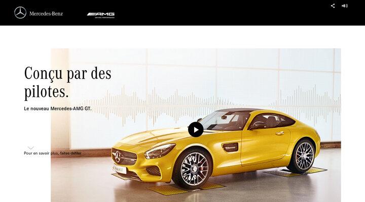 Microsite Internet de la Mercedes-AMG GT
