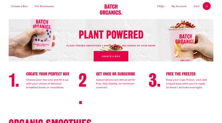 Batch Organics | Plant Powered Healthy Food